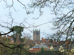 Spire of St Laurence over Ludlow