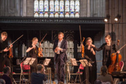 Ludlow Gold presented to Gildas Quartet and Robin Tritschler credit Sam Cornish