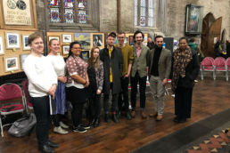 Masterclass students and Young Composers with Eleanor Alberga. Credit Jane Nicolson.
