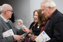 David Jackson, Jane Nicolson and Alastair Chisolm at opening reception. Credit Sam B Cornish.